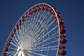 Ferris Wheel at Carnival Fair on Navy Pier Chicago Royalty Free Stock Photo