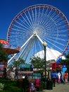 Ferris wheel chicago il navy pier Royalty Free Stock Image