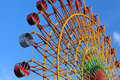 Ferris wheel with clear blue sky Stock Images