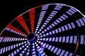 Ferris wheel close up view en la noche Imagenes de archivo