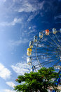 Ferris wheel with colorful blue sky Royalty Free Stock Photography