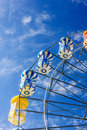 Ferris wheel with colorful blue sky Royalty Free Stock Image