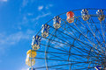 Ferris wheel with colorful blue sky Royalty Free Stock Images