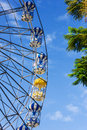 Ferris wheel with colorful blue sky Stock Photo