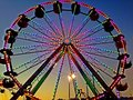 Ferris wheel at county fair Stock Photography