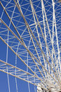 Ferris wheel details radial arms of a large in pigeon forge tennessee Royalty Free Stock Photos