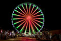 Ferris wheel in gatlinburg tennessee during the christmas holidays pigeon forge taken at night with long exposure Stock Photo