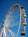 Ferris wheel at husum and amusement park little town the north sea Stock Photo