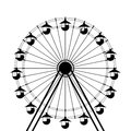 Ferris wheel icon over white background Stock Image