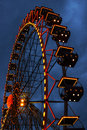 Ferris wheel illuminated at night in odessa Royalty Free Stock Photos