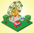 Ferris wheel illustration of a Royalty Free Stock Photo