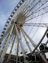 A ferris wheel in liverpool view on england Royalty Free Stock Images