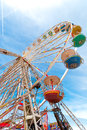 Ferris wheel located at the central pier in blackpool england uk Stock Images