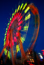 Ferris wheel in motion Stock Photography