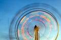 Ferris wheel with motion blur Stock Image