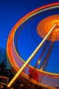 Ferris wheel in motion at night Royalty Free Stock Images