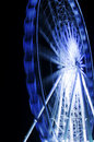 Ferris wheel in motion in a night time Royalty Free Stock Photo