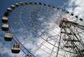 Ferris wheel near vdnkh all russia exhibition centre vdnkh is a permanent exhibition center in moscow russia july Royalty Free Stock Image