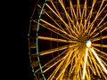 Ferris wheel the at night Stock Photo