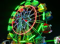 Ferris wheel at night in thai market Royalty Free Stock Image