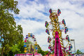 Ferris Wheel & Other Ride At Small County Fair Royalty Free Stock Photo