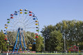 Ferris wheel in the park gorozhan. Royalty Free Stock Photo