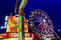 Ferris wheel photo of a at the illinois state fair at night Royalty Free Stock Images