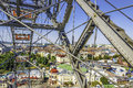 Ferris wheel at the prater in vienna austria with city background Stock Photography