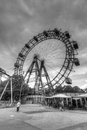 Ferris wheel prater vienna the wiener is a large public park in s nd district leopoldstadt the wurstelprater amusement park often Stock Images