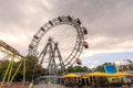 Ferris wheel prater vienna the wiener is a large public park in s nd district leopoldstadt the wurstelprater amusement park often Stock Photo