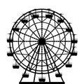 Ferris wheel silhouette Royalty Free Stock Photo