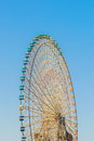 Ferris wheel with sky blue Stock Image