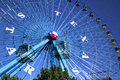 Ferris wheel and sky way at State Fair Royalty Free Stock Photo