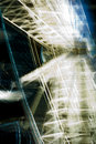 Ferris Wheel - Spinning around at night. Royalty Free Stock Photo