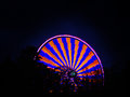 Ferris wheel spinning at night Royalty Free Stock Photo