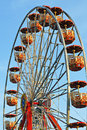 Ferris wheel at a summer festival Royalty Free Stock Photos