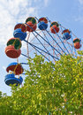 Ferris wheel in the summer morning Royalty Free Stock Photos