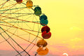 Ferris wheel on the sunset background Royalty Free Stock Image