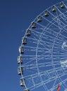 Ferris wheel Texas Star and setting moon Royalty Free Stock Photo