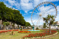 Ferris wheel torquay devon the at united kingdom Royalty Free Stock Image