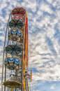 Ferris wheel a typical found at most amusement parks around the world Royalty Free Stock Image