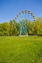 Ferris wheel under blue sky Stock Photo