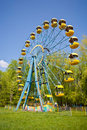 Ferris wheel under blue sky Stock Image