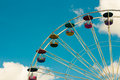 Ferris wheel in vintage color style Stock Photos