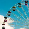 Ferris wheel in vintage color style Royalty Free Stock Photo