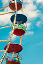 Ferris wheel in vintage color style Royalty Free Stock Images