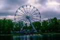 Ferris wheel youth recreation park and view of the at the in kaliningrad russia hdr applied to this image Royalty Free Stock Image