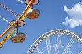 Ferris wheels in an amusement park Royalty Free Stock Image