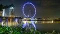 Ferriswheel singapore flyer Stock Photo