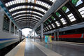 Ferrocarril central de Milano Fotografía de archivo